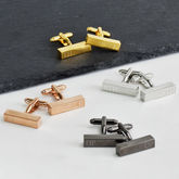 Personalised Initial Bar Cufflinks - anniversary gifts
