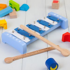 Personalised Blue Childrens Xylophone Set