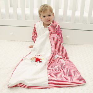 Winter Sleeping Bag With Sleeves Fire Engine - baby sleeping bags
