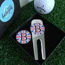 Personalised Union Jack Golf Tool And Ball Marker