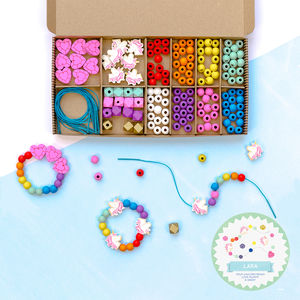 Personalised Unicorn And Rainbow Bracelet Making Kit - traditional toys & games