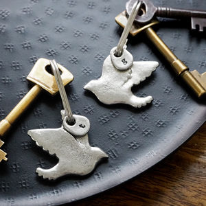 Two Turtle Doves Friendship Keyring Set - gifts for friends
