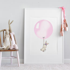 Personalised Big Round Balloon Print - children's pictures & paintings