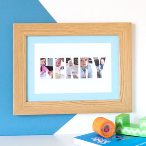 Personalised 'Boy's Name' Photograph Print - baby's room