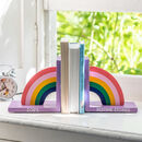 Personalised Childs Rainbow Bookends