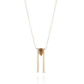 Tiger's Eye 24ct Gold Vermeil Necklace