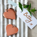Rose Gold Or Silver Heart Shaped Decorations