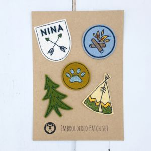 Personalised Camping Patch Set