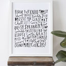 Baking Typographic Print