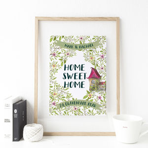New Home 'Home Sweet Home' Print - room decorations