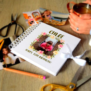 Personalised Photo Birthday Scrapbook - guest books