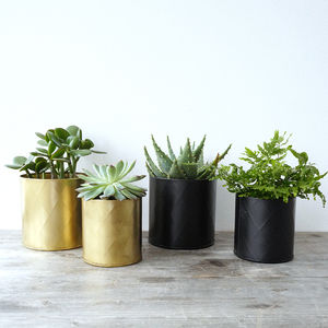 Set Of Two Metal Planter Pots - gardener