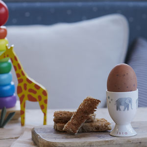 Personalised A Trip To The Zoo Egg Cup - dining room