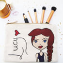 Personalised Dollybelles Make Up / Wash Bag
