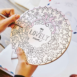 'My Lovely Mum' Cake Stand Ceramic Painting Set - gifts for bakers