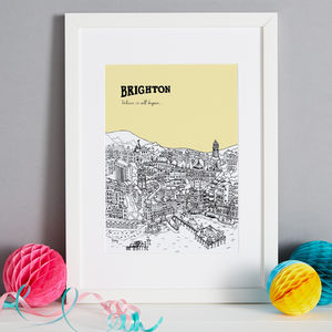 Personalised Brighton Print - drawings & illustrations