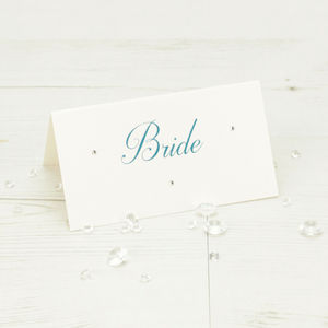 Kensington Name Place Card - wedding stationery