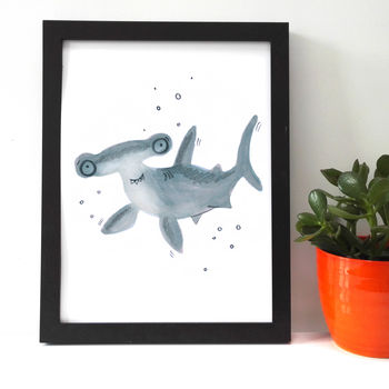 Children's Room Hammerhead Shark Giclee Print