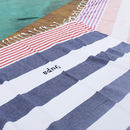 Personalised Navy Stripe Hammam Towels