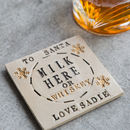 Santa's Milk Ceramic Coaster