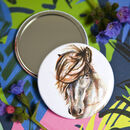 Inky Horse Pocket Compact Mirror