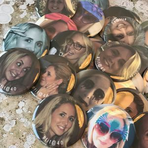 Personalised Photo Badges - hen party ideas