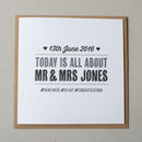 Personalised Hashtag Wedding Card