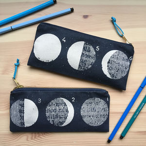Phases Of The Moon Printed Pencil Case