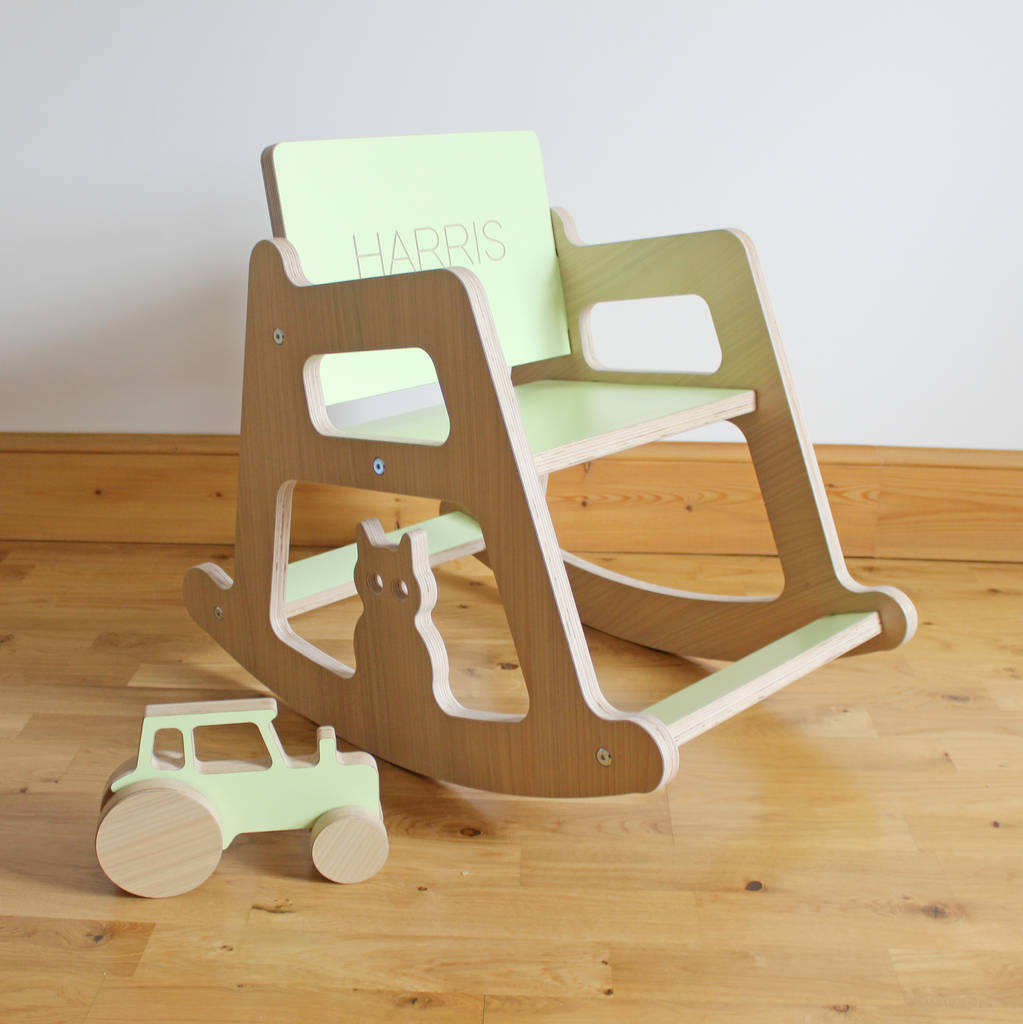 Personalised Wooden Children's Rocking Chair