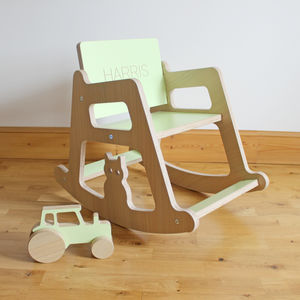 Personalised Wooden Children's Rocking Chair - 1st birthday gifts