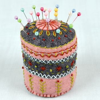 Felt Pincushion Embroidery Kit