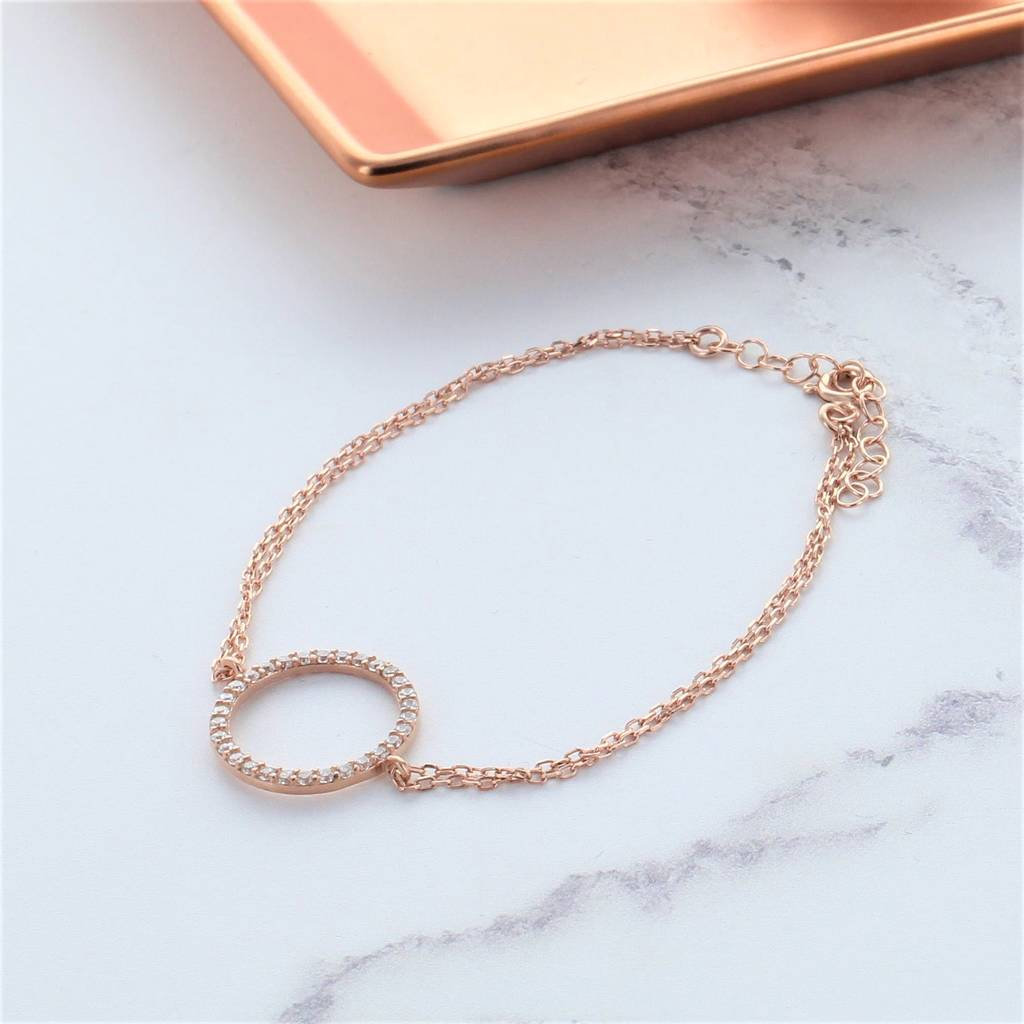 fashion silver pulseira zircon bracelet real color high newest jewelry quality original design simple products cz fit