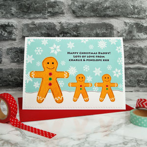'Gingerbread' Christmas Card From Children / Grandkids