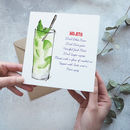 Mojito Cocktail Card