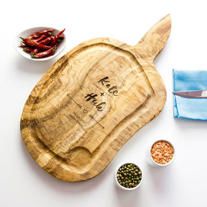 Personalised 40cm Carving Board With Jus Groove - 5th anniversary: wood