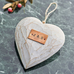 Personalised Wooden Hanging Love Heart