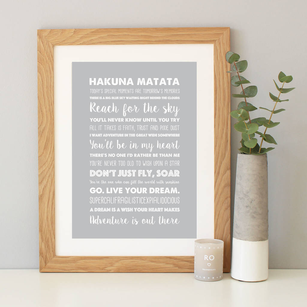 disney inspirational quotes print by hope and love ...