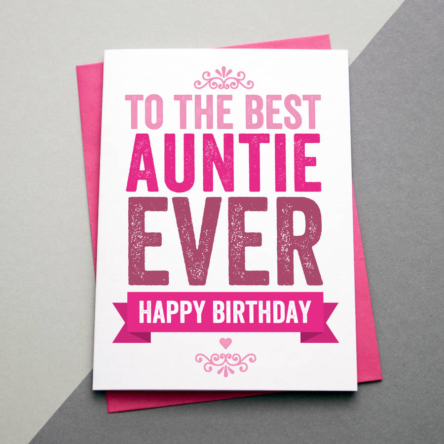 Best Auntie Aunt Aunty Ever Birthday Card