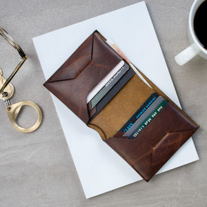 Personalised Origami Leather Wallet - 40th birthday gifts