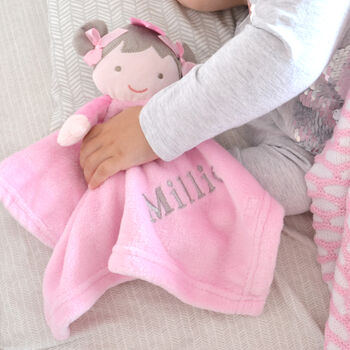 Personalised Pink Doll Comforter