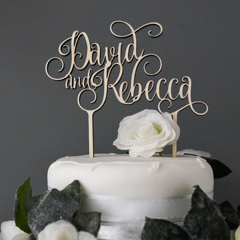 Personalised Names Wedding Engagement Cake Topper