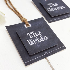 Chalkboard Wedding Place Setting Tag - table decorations
