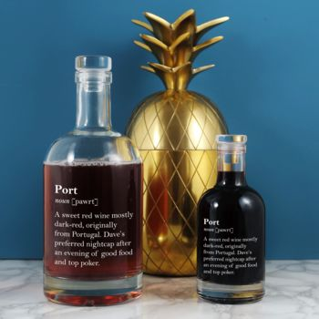 Funny Personalised Port Definition Decanter. Two Sizes