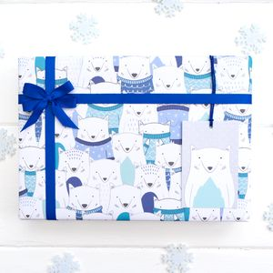 Christmas Arctic Fox Wrapping Paper - cards & wrap