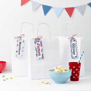 Boys Personalised Gift Tags Set Of 10 - ribbon & wrap