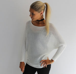 Batwing Fine Knit Jumper - jumpers