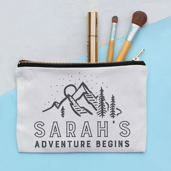 Personalised Adventure Make Up Bag