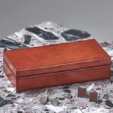 Personalised Leather Cufflink Box - men's jewellery