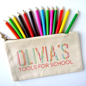 Personalised Kids Tools For School Pencil Case