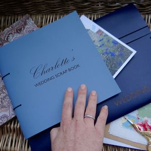 Personalised Leather Wedding Planner Scrapbook - planners & record books